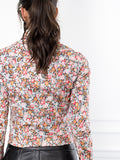 Womens Black Floral The Icon Shirt in Floral 4