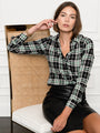 Womens Black/Green The Signature Shirt in Black/Green Plaid