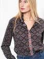 Womens Black Paisley The Signature Shirt in Black Paisley