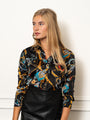 Womens Black Print The Signature Shirt in Equestrian