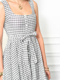 Womens Black/White Check The Sweetheart Dress 2