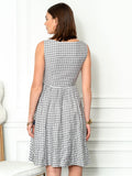 Womens Black/White Check The Sweetheart Dress 4