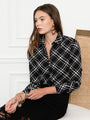 Womens Black/White The Signature Shirt in Black/White Plaid 2