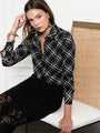 Womens Black/White The Signature Shirt in Black/White Plaid