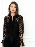 Womens Black The Lace Shirt 4
