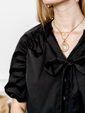 Womens Black The Antoinette Shirt 7