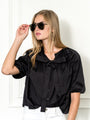 Womens Black The Antoinette Shirt