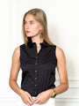 Womens Black The Sleeveless Shirt