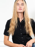 Womens Black The Short Sleeve Shirt 2
