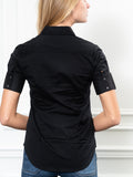 Womens Black The Short Sleeve Shirt 5