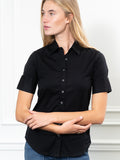 Womens Black The Short Sleeve Shirt 7