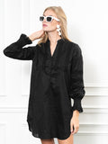 Womens Black The Isabel Shirt Dress 4
