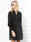 Womens Black The Isabel Shirt Dress 6