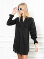 Womens Black The Isabel Shirt Dress
