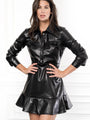 Womens Black The (Vegan) Leather Dress 2
