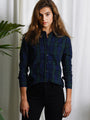 Womens Blackwatch Plaid The Icon Shirt in Blackwatch Plaid 2