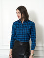 Womens Blue/Blue Plaid The Icon Shirt in Blue/Blue Plaid