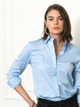 Womens Blue Dawn The Boyfriend Shirt 2