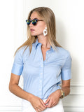 Womens Blue Dawn The Short Sleeve Shirt 4