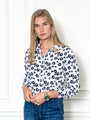 Womens Blue Multi The Signature Shirt in Blue Floral with Blue Piping 2