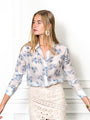 Womens Blue Palm The Signature Shirt in Blue Palm 2