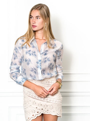 Womens Blue Palm The Signature Shirt in Blue Palm