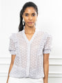 Womens Blue Print The Daphne Shirt 2