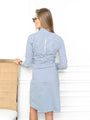 Womens Blue Stripe The Ruched Shirtdress 2