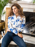 Womens Blue/White The Icon Shirt in Blue Birds