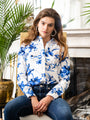 Womens Blue/White The Icon Shirt in Blue Birds 2