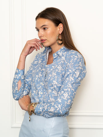 Womens Blue/White The Icon Shirt in Blue Blossom