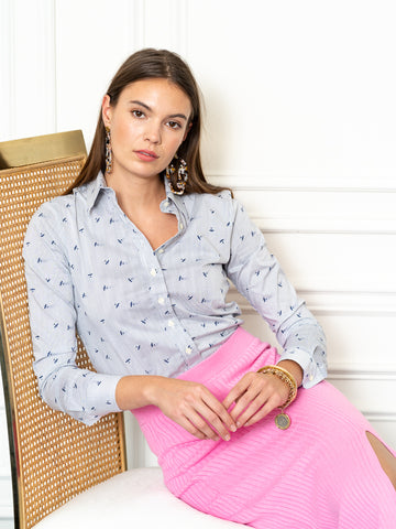 Womens Blue/White The Icon Shirt in Jetset