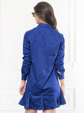 Womens Blue The Peplum Dress 4
