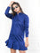 Womens Blue The Peplum Dress