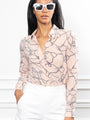 Womens Blush Nautical The Signature Shirt in Blush Nautical