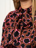 Womens Brown/Neon The Bow Tie Shirt in Pink Civet 2