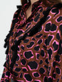 Womens Brown/Neon The Signature Shirt in Pink Civet w/ Tassels 2