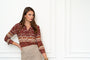 Womens Burgundy Boho The Signature Shirt in Burgundy Boho 2