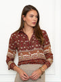 Womens Burgundy Boho The Signature Shirt in Burgundy Boho