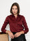 Womens Burgundy The Essentials Icon Shirt
