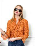 Womens Cinnamon The Lace Shirt 4