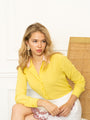 Womens Citron/Pink The Signature Shirt with Contrasting Trim 2