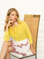 Womens Citron/Pink The Signature Shirt with Contrasting Trim