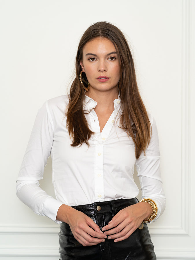 Womens Classic White The Skinny Shirt
