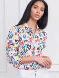 Womens Colorful Hearts  The Boyfriend Shirt in Colorful Hearts 2