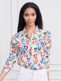 Womens Colorful Hearts  The Boyfriend Shirt in Colorful Hearts 4