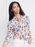 Womens Colorful Hearts  The Boyfriend Shirt in Colorful Hearts