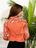 Womens Coral multi The Signature Shirt in Falling Blossom 2