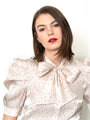 Womens Cream/Black Dots The French Bow Shirt 2