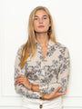 Womens Cream/Black The Icon Shirt in Taupe Toile